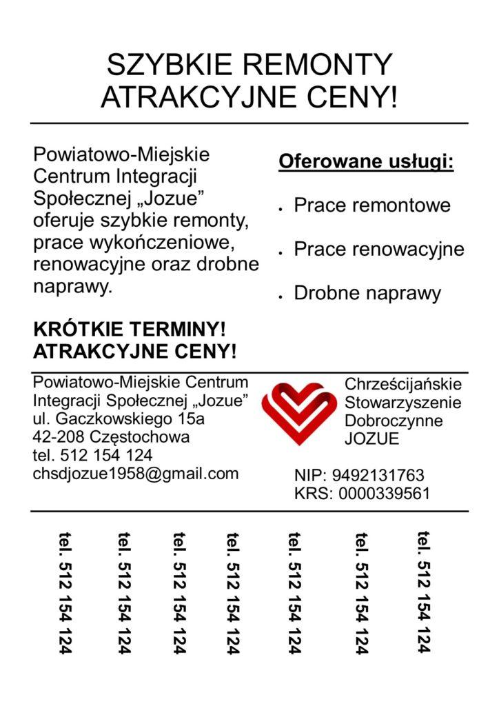 centrum integracji społecznej, remont, usługi remontowe, renowacyjne
